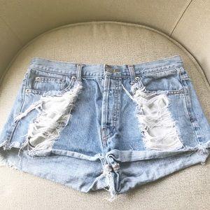 Brandy Melville distressed jean shorts